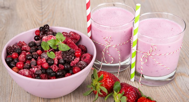 Smoothie aux petits fruits