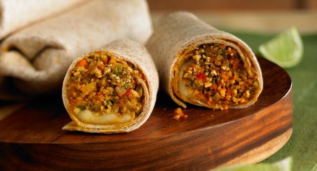 Burritos au tofu et aux légumes