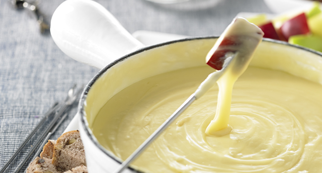 Fondue au cidre et aux fromages Fritz Kaiser
