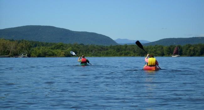 Trempette sur le lac Champlain