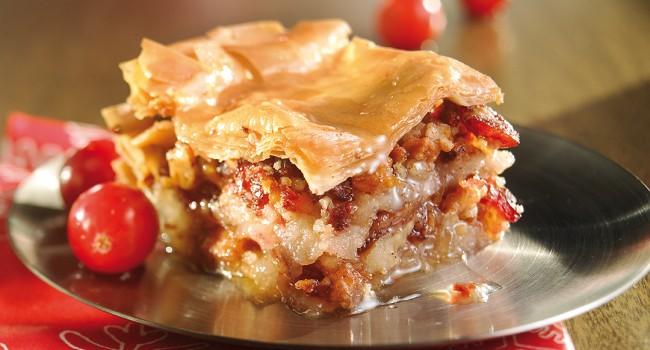 Baklava aux pommes et canneberges