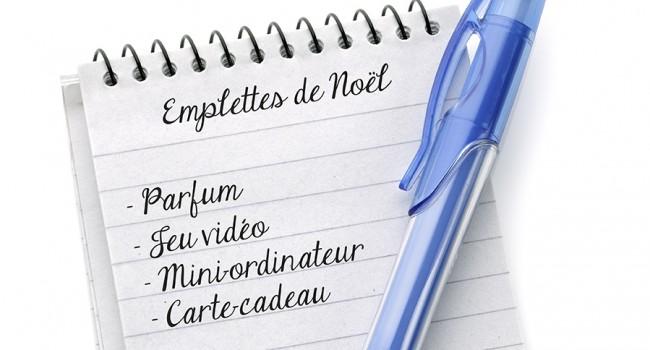 Liste d'emplettes en main et droits en tête