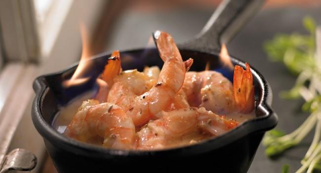Crevettes flambées à l'érable