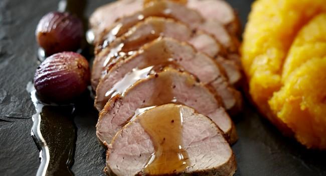 Filet de porc à la bière brune et au thé du Labrador