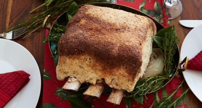 Côte de bœuf en croûte de sel au raifort