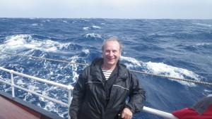 Serge heureux d'être en mer