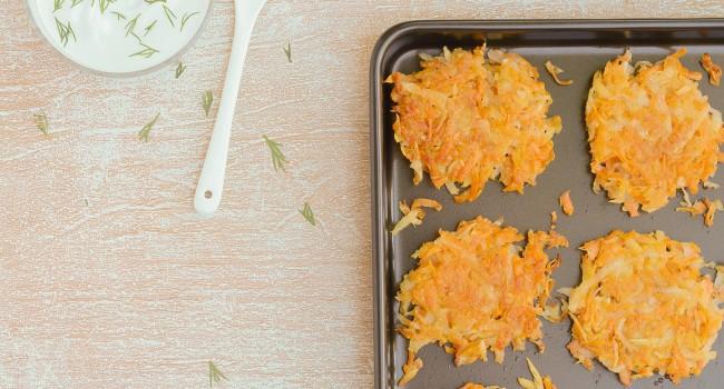 Mini-röstis aux deux patates et au panais