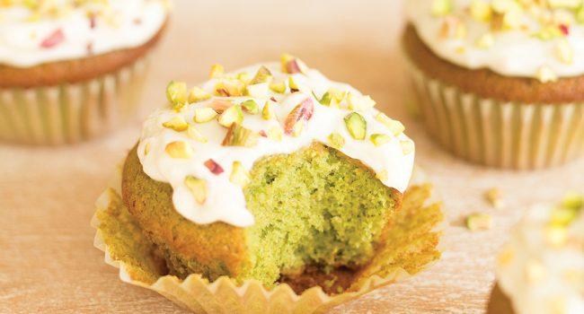 Cupcakes au citron, miel et chou kale
