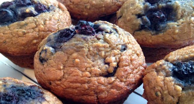 Muffinski le réveil d'Azur (muffins aux bleuets)