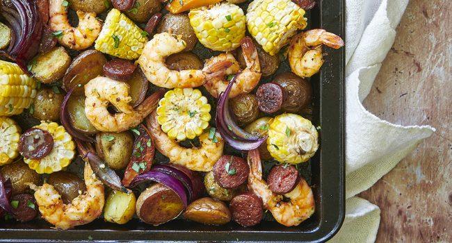 Plaque de crevettes à la shrimp broil, mayonnaise cajun