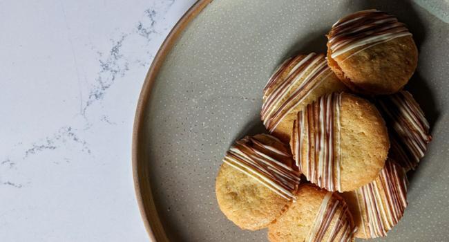 Biscuits sablés avec ganache à l'Amarula